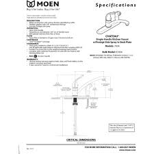 moen chateau kitchen faucet moen 7434 chateau chrome one handle with sidespray kitchen faucets