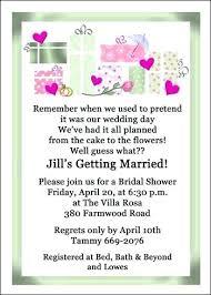 bridal party invitation wording shower invitation wording mounttaishan info