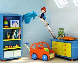 chambre garcon pompier sticker echelle et pompier