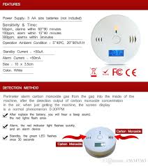 carbon monoxide detector flashing green light best quality co carbon monoxide detector alarm system for home