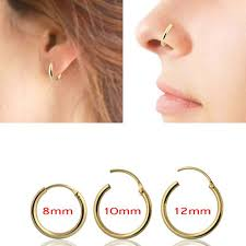 silver piercing rings images Unique design septum clicker silver nose ring piercing nose tragus jpg