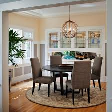 a mix of shapes makes the dining room visually interesting a