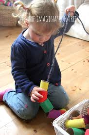 cardboard threading activity for toddlers activities
