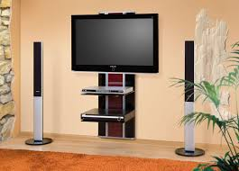 black and brown acrylic wall mounted tv stand with two tier