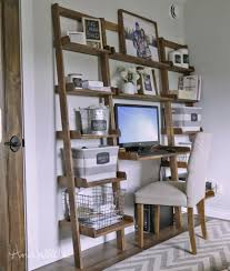 ana white leaning wall ladder desk diy projects with how to build