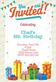 birthday invitation design birthday invitation template word