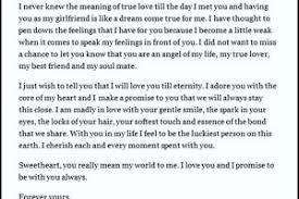 sample love letter to girlfriend templatezet