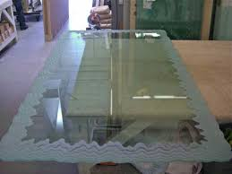 Dining Table Glass by Custom Glass Table Tops Sans Soucie Art Glass
