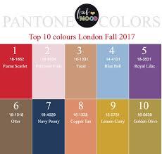 2017 color pallets pantone fall 2017 color palettes new york london color trends