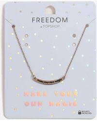 Make Your Own Name Necklace Topshop Charlotte Name Necklace In Metallic Lyst