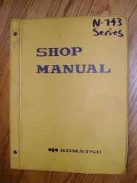 komatsu cummins n743 series engine service shop repair manual