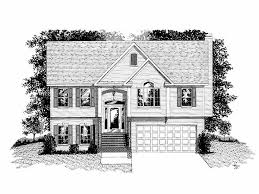 bi level house plans with attached garage ranch house plans the house plan shop