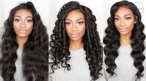 barrel curl hairpieces how i slay my wig easy glamorous wand curls youtube