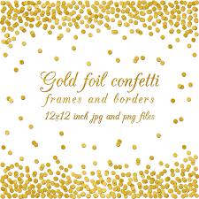 gold foil confetti overlay border frame digital paper 12x12