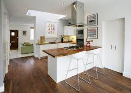 Kitchen With Bar Table - the concept of bar table in a small kitchen