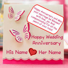 Happy Wedding Anniversary Cards Pictures Write Name On Happy Wedding Anniversary Greeting Card Pictures