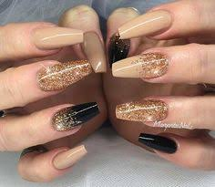 31 snazzy new year u0027s eve nail designs coffin nails gold glitter