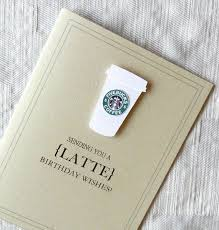 birthday card beautiful colection starbucks birthday card