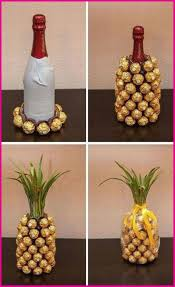 cosmopolitan bottle chocolate and wine pineapple gift via cosmopolitan want need