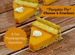pumpkin pie cheese crackers thanksgiving appetizer thrifty jinxy