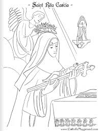 Saint Rita Of Cascia Coloring Page May 22nd Catholic Playground Saints Colouring Pages