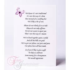 wedding gift list poems wedding invitation wording money instead of gifts invitations