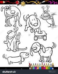 coloring book page cartoon illustration set stock illustration