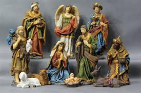 polyresin ceramic porcelain nativity set holy family decoration