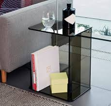 bedroom unique c shaped glass side table modern living room