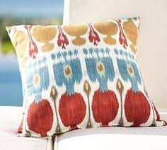 Chair Cushions Pottery Barn Nadia Ikat Pillow Cover Pottery Barn Evin Pinterest Barn