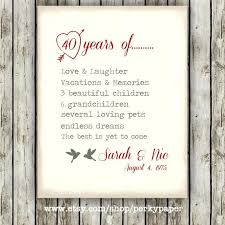 40 wedding anniversary gift ruby wedding anniversary gifts for parents th ireland year