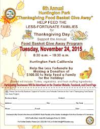 the greater huntington park area chamber of commerce thanksgiving