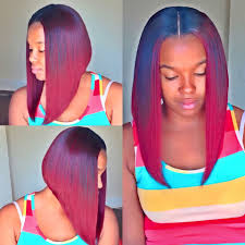 black hair weave part in the middle bob with middle part stylesbydiva hair pinterest bobs