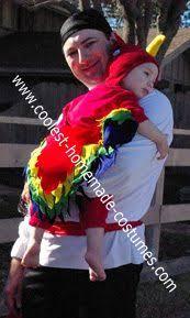 Halloween Costumes Parrots Pretend Kids Infant Romper 0 6 Months Parrot Costume Diy