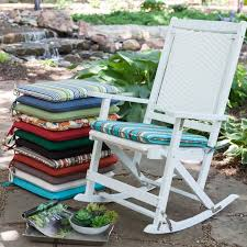 Patio Chair Seat Pads Coral Coast 19 X 18 Rocking Chair Seat Pad Rocking Chair