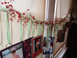 christmas card display holder a party style garland christmas card display