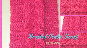 braided scarf easy crochet braided scarf