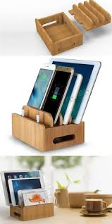 phone charger organizer wooden charge cable organizer ipad cell phone charging station