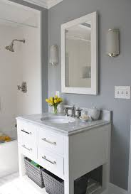 129 best bathroom images on pinterest bathroom ideas bathroom simply modern home bathrooms benjamin moore marina gray hutton single washstand restoration hardware hutton mirror gray walls gra