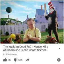 Glenn Walking Dead Meme - the walking dead 7x01 negan kills abraham and glenn death scenes