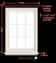 Blinds Outside Of Window Frame How To Measure For Blinds And Shades