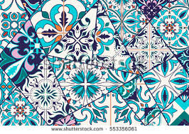 moroccan mosaic pattern bacground free vector
