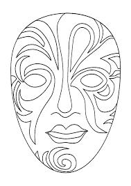 coloriages masque venise 도안 pinterest mardi gras masking