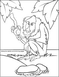 mufasa u0026 simba star gazing lion king coloring page