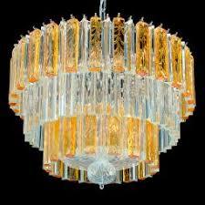 Orange Glass Chandelier Solaire