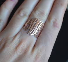 day rings personalized sterling silver monogram ring personalized ring monogram