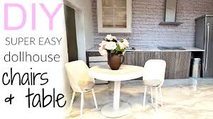 Dollhouse Dining Room Furniture by Diy Very Easy Dollhouse Chairs U0026 Table Youtube
