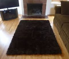 Fur Area Rug Plush Brown Faux Fur Area Rug From