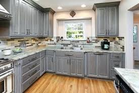 grey finish kitchen cabinets grey stained kitchen cabinets what brand are the cabinets