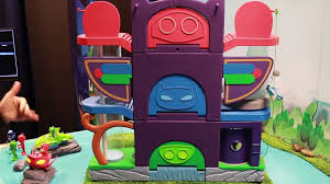 pj masks headquarters playset catboy gekko u0026 owlette toys